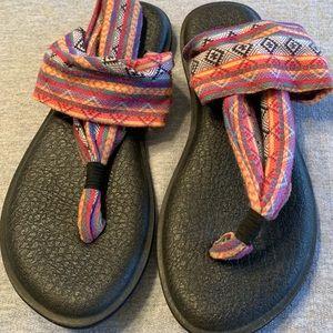 Sanuk Yoga Sling Sandals Size 7